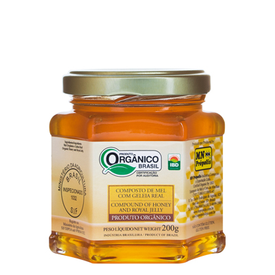 Compound of Organic Honey with Royal Jelly 200g