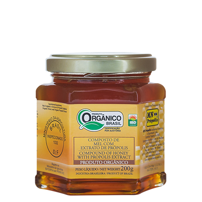 Organic Compound of Honey with Propolis Extract 200g